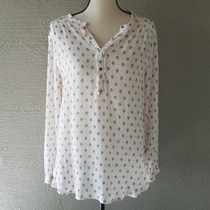 H & M Cream Peasant Boho Blouse